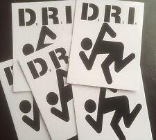 D.R.I .. DIRTY ROTTEN IMBECILES ... VINYL STICKERS... HARDCORE PUNK SKATE METAL