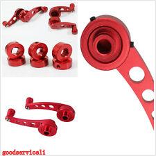 1 Pair Red Aluminum Billet  Autos SUV Door Window Winder Handles Crank Knob Kits