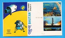 BHUTAN - APOLLO-11 - Manned Space Flight - 3D Holographic FDC 1969