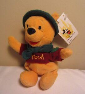 New Walt Disney World Wilderness Pooh Winnie the Pooh Bean Bag Plush Doll NWT