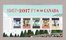 FORMULA-1 = 5 BEST RACING CAR PILOTS = cut from Miniature sheet MNH Canada 2017