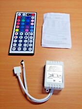 12 Volt 6 Amp 3528/5050 LED Driver with 44 Button Remote (BRG / GRB)