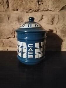 Vintage French Enamel Coffee canister