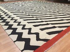 Amazing Afghani - Vintage Kilim Rug - Tribal Flatweave Carpet - 9.9 x 12.7 ft.