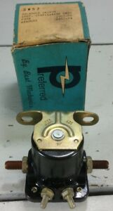 New 1967-75 Ford Starter Solenoid Fairlane Falcon Galaxie Mustang Black