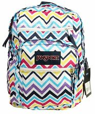 NEW JANSPORT BIG STUDENT LARGE STUDENT COLLEGE BACKPACKS - MULTI SAUCY CHE