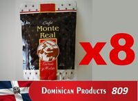 8 pound CAFE MONTE REAL ORGANIC grounded dominican coffee 100% EUROPE JAPAN