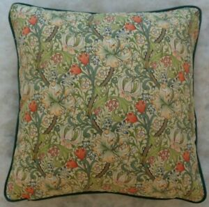 """GOLDEN LILY BY WILLIAM MORRIS 18"""" CUSHION COVER STUNNING DESIGN 100% COTTON"""