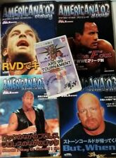 AMERICANA CENTURY 4 WWE Magazine '02 - '04 LOT + JAPAN WOMEN Pro Wrestling Video
