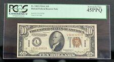 1934 A $10 HAWAII FRN Brown Seal PCGS 45PPQ FR 2303 s/n L51015095B Mr. C