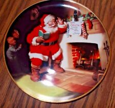 "Franklin Mint "" The Pause that Refreshes"" Collectible Coca Cola Plate 1993 Coa"