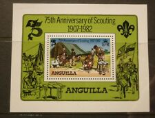 OLD BOY SCOUT GIRL GUIDE STAMP COLLECTION, 1982 ANGUILLA 75th ANNIV MINT SHEET