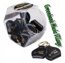 Dunlop Picker's Keychain Pouch and Pick Holder - Gold Logo - Real Leather