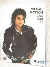 MICHAEL JACKSON Japan Tour 87 Concert Program Art Book
