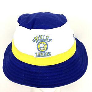 Los Angeles MPLS Lakers Bucket Cap New Era Hardwood Classics Basketball Hat S/M