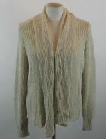 Chico's Ruched Back Bridgette Cardigan Sweater Creamy Sand 3 XL NWT $99