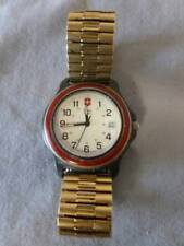 Swiss Army Watch Marlboro Red Bezel w/Date Used for parts or repair. NON Working