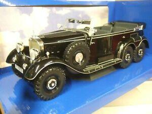 MCG 1/18 D/CAST 1938 MERCEDES-BENZ G4 (W31) 6 WHEEL GERMAN STAFF CAR IN BLACK