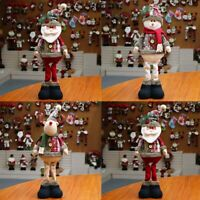 48cm Home Xmas Decor Party Elk Santa Claus Doll Standing  Snowman Christmas Toy