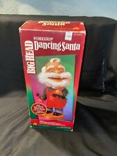 Gemmy Big Head Singing Dancing Animated Christmas Santa W/ Box See Video