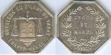 Jeton - VASSY 1851 Haute Marne 1 silver corne 15 grammes d=31mm Lerouge 415a