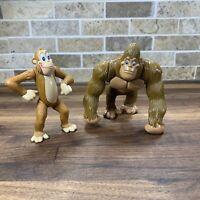 """2000 Rainforest Cafe Jungle Action Figures 3.5"""" Poseable PVC Gorilla Ape"""