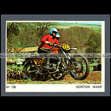 #MTP136 ★ PAUL STERKI / FLURY SIDE-CAR NORTON CROSS ★ Carte Moto Motorcycle card