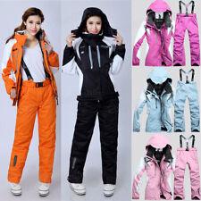 Womens Winter Warm Casual Waterproof Coat Pants Ski Suits Jacket Snowboard 2 Pcs