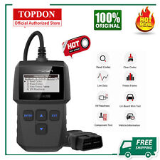 TOPDON OBD2 Scanner Code Reader, Turn Off Check Engine Light Erase Fault Codes