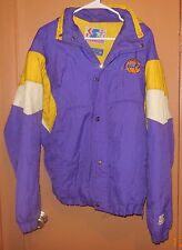 Vintage VTG 80's 90's starter Los Angeles lakers button Up with Zipper jacket