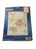 Janlynn Sleepy Bunnies Birth Sampler Counted Cross Stitch Kit 054-0048 NEW open