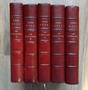 Victor HUGO Les Misérables, Lemerre 1899-1902, 5 vol. reliés