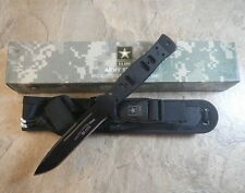 """U.S. Army 9 1/2"""" Wilco Fixed Blade Fighting Combat Knife w/Molle Sheath Licensed"""