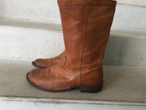 Vintage Fiorentini + Baker Boots, Biker Elgin, Cognac, 38,39,40, Shabbies Style
