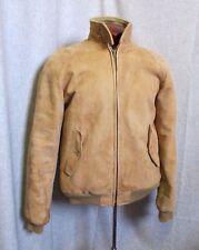 LL Bean New Zealand lamb suede leather Raglan Sleeve Baracuta  Jacket  SIZE 38