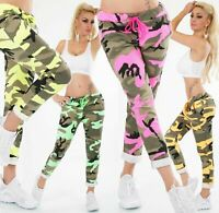 Women's Trousers Army Look Sweat Baggy Jog Pants Stretch Camouflage Pants 6,8,10