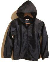Kids lands end rain jacket Navy Blueb Size 10/12 Pockets