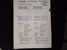 Original Service Manual   Blaupunkt Autoradio Mannheim L  Emden V