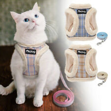 Cat Harness with Leash Soft Fleece Puppy Walk Vest Harness for Small Dogs Coat