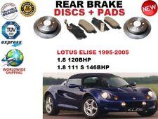 FOR LOTUS ELISE 1.8 1995-2000 CONVERTIBLE REAR BRAKE DISCS SET + BRAKE PADS KIT