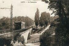 Carte LAON Le Funiculaire Le Tarin sur le pont