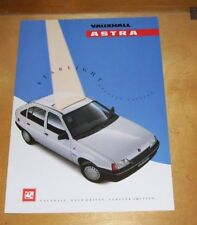 VAUXHALL ASTRA STARLIGHT SPECIAL EDITION SALES BROCHURE MAY 1990 V7451