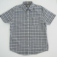 RIP CURL Mens Short Sleeve Shirt Size S Grey Plaid NWOT