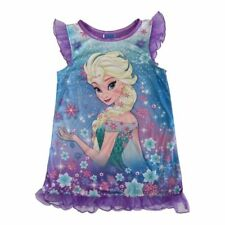 Disney Girls Purple Frozen Elsa Ruffles Short Sleeve Nightgown Size 8 - NEW!!