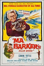 MA BARKER'S KILLER BROOD, 1960 1-SH ORIG MOVIE POSTER, CRIME