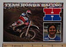 1980 TEAM HONDA STEVE WISE POST CARD Vintage Motocross Motorcycle CR250R CR125R