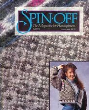 Spin-off magazine Fall 1994: weave ~ spin sweater without loom, machine knitting