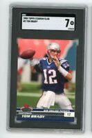 2008 Topps Stadium Club #2 Tom Brady SGC 7 Graded Football Card GOAT
