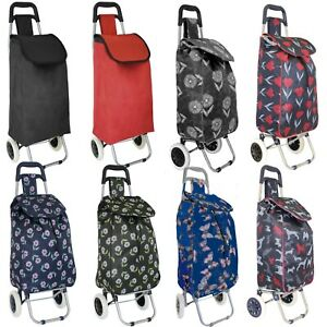Large Lightweight Wheeled Shopping Trolley Push Cart Luggage Bag with Wheels