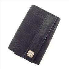 Dunhill Key case Key holder Black PVC Leather Mens Authentic Used I511